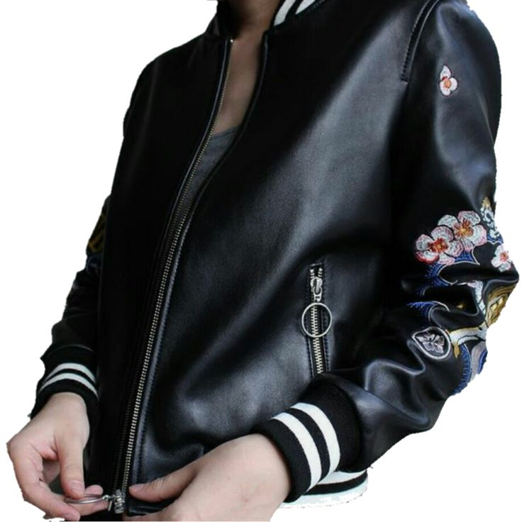 Love & Tigger Embroidery bomber Jacket by Boom Crush. Leather look. @boomcrushshop