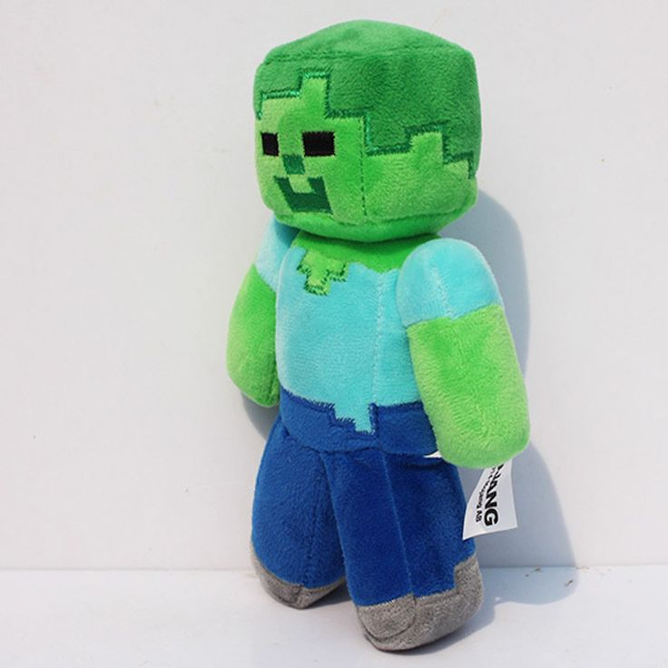 """Wholesale 1PC 2016 New Design Hot sale 18cm/7"""" Minecraft Steve Creeper Zombie Soft Plush Toy Doll Xmas Gift GAME For Baby Girl"""