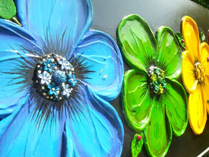 How to paint Abstract Textured Flowers Art Competition learn to paint