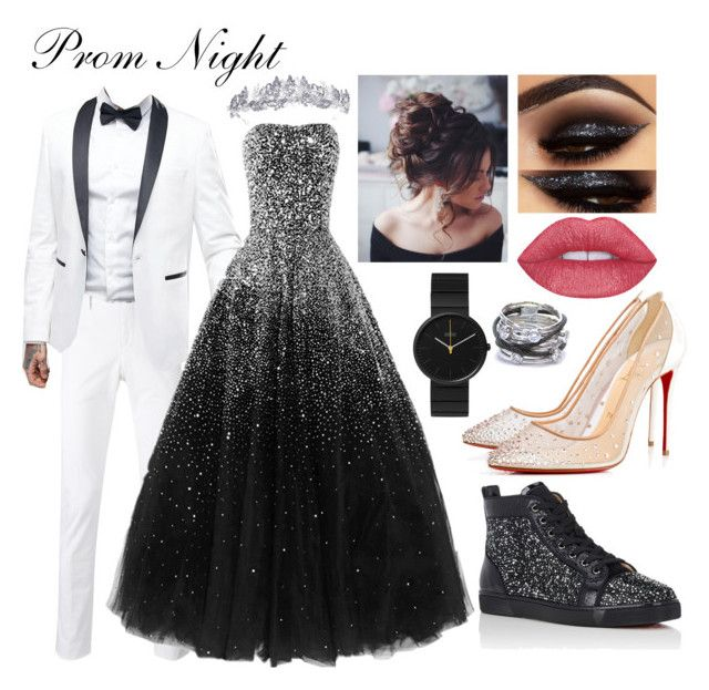 """""""Prom Night"""" by real-21c on Polyvore featuring PT01 Pantaloni Torino, ASOS, Christian Louboutin, Braun and Charriol"""