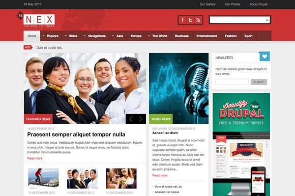 Drupal News Theme TB Nex. Drupal Themes. $79.00
