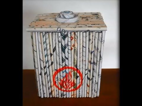 BAÚ - CESTARIA COM JORNAL / BASKETRY WITH NEWSPAPER: CHEST / CESTERÍA CON PERIÓDICO: CAJA - YouTube