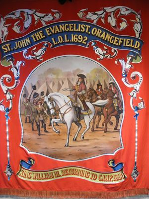 The Orange Order - a Protestant fraternity formed to commemorate William of Orange's victory at the Battle of the Boyne in 1690.