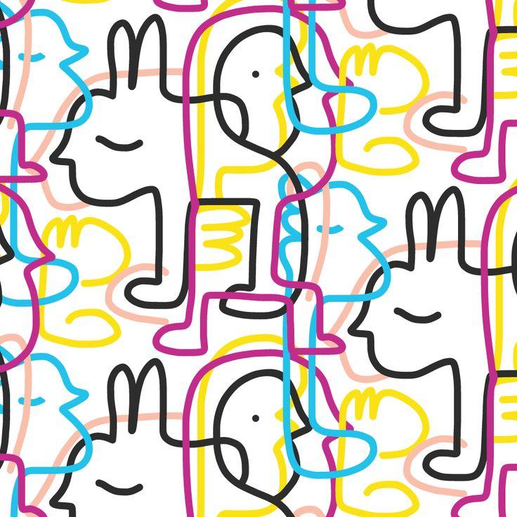 Down the rabbit hole seamless pattern | Oodlies Art by Joi Murugavell