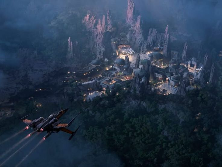Disney releases new image of the upcoming Star Wars Land   At the D23: Destination D presentation that took place in Disney World Orlando earlier today a new concept image was revealed for the upcoming Star Wars Land. Currently theres construction going on at both the California and Florida theme parks to incorporate the new 14-acre land expansions.  Already announced though is that Star Wars Land will feature a Millennium Falcon ride as the central attraction allowing guests to pilot the…