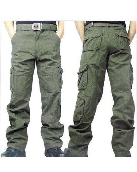 Fashion Outdoor Cotton Pockets Men Pants  Price: $41.13 USD