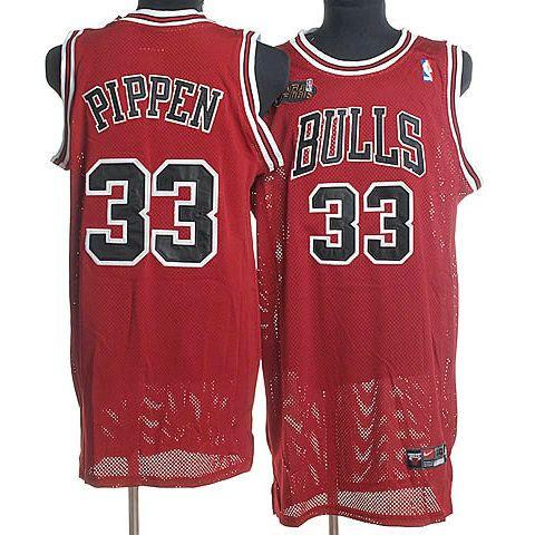 Camisetas de Baloncesto NBA Chicago Bulls Pippen #33 Rojo 04
