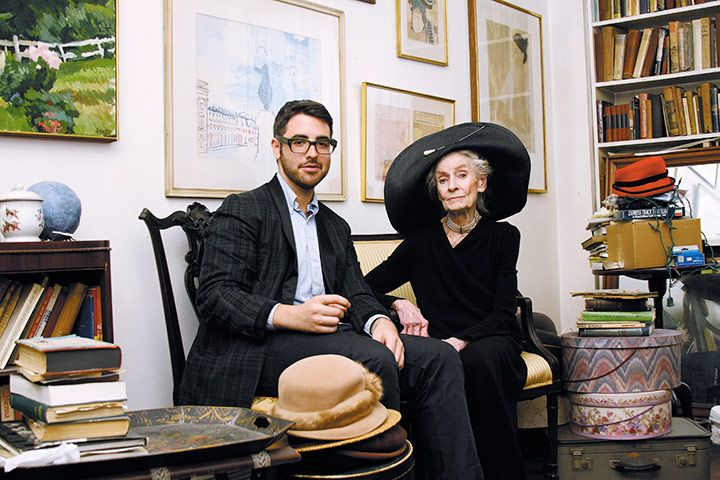 Blogger Ari Seth Cohen with actress and model Mimi Weddell. 'I started my blog, Advanced Style, in August 2008 after moving to New York. I roam the streets to find the most interesting, stylish and creative men and women of a certain age and compile their stories and photos'