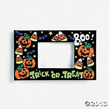 Color Your Own Fuzzy Halloween Photo Frame Magnets - $5.25, makes a dozen