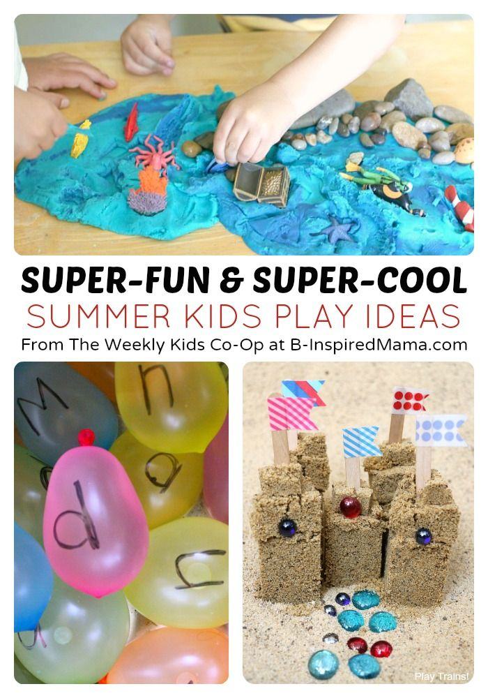 Summer Kids Play from The Weekly Kids Co-Op - #kids #play #kbn #binspiredmama