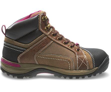 Chisel Mid-Cut Steel-Toe Hiking Boot, Dark Brown