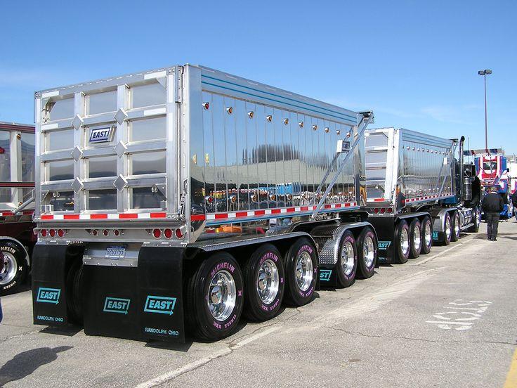 videos of trucks | Mid-America Truck Show (Road Train Dump Truck)