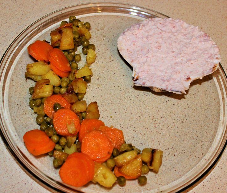 Mousse di prosciutto cotto con patate, carote e piselli