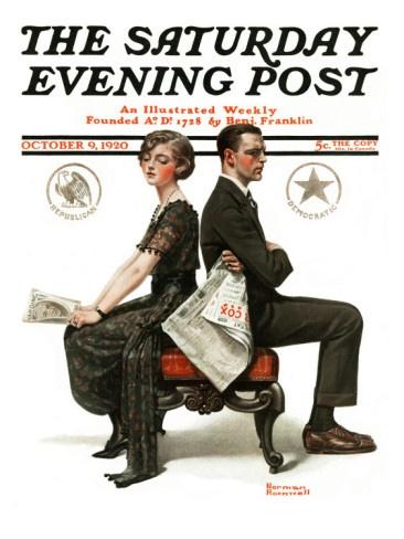 : Election Debate, 9 1920 Giclee, Rockwell Art, Art Norman Rockwell, Art Com, Saturday Evening Post, October 9 1920