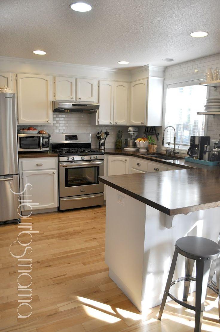 kitchen layout.. I like her blog too