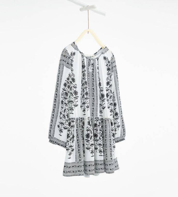 Flowing border print dress-Dresses-DRESSES AND JUMPSUITS-GIRL | 4-14 years-KIDS | ZARA United States $29.90