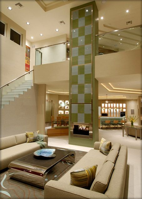 Luxury Living Room Design With High Ceilings