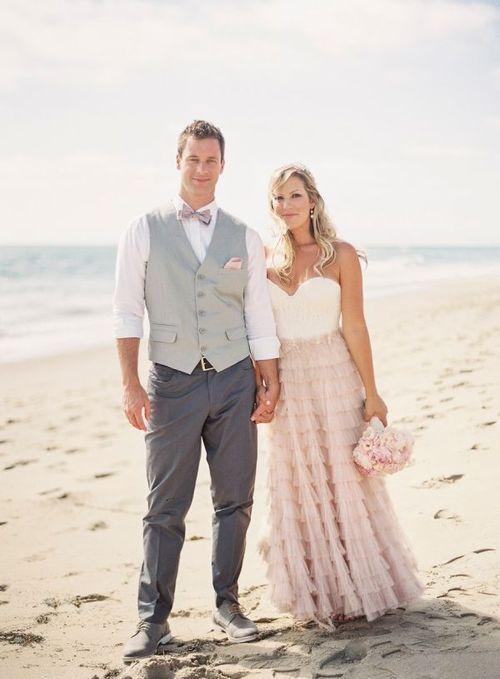 Blush Mint Coastal Beach Wedding Groom Attirein