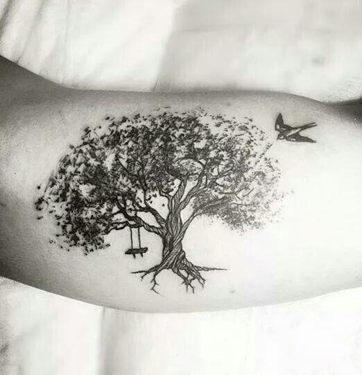 Amazing tree tattoo by La of Fallen Heroes in Johannesburg