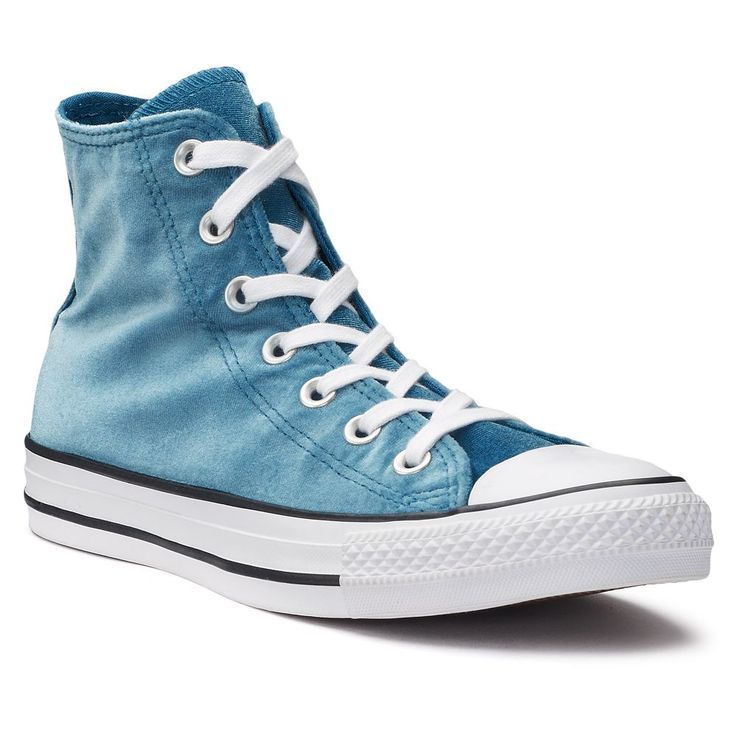 Women's Converse Chuck Taylor All Star Velvet High Top Sneakers, Size: 9, Blue Other