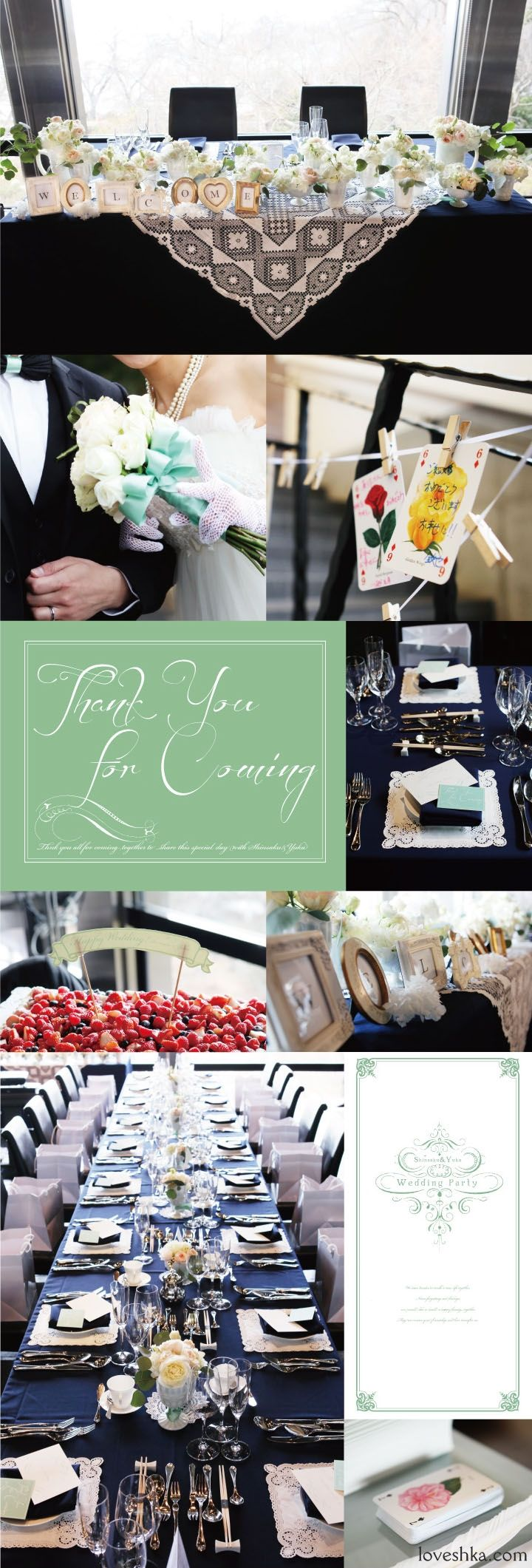 real wedding / 実際のプロデュース / 大人かわいい / ネイビー / レストラン / ウェディング / 結婚式 / wedding / オリジナルウェディング / プティラブーシュカ / トキメクウェディング