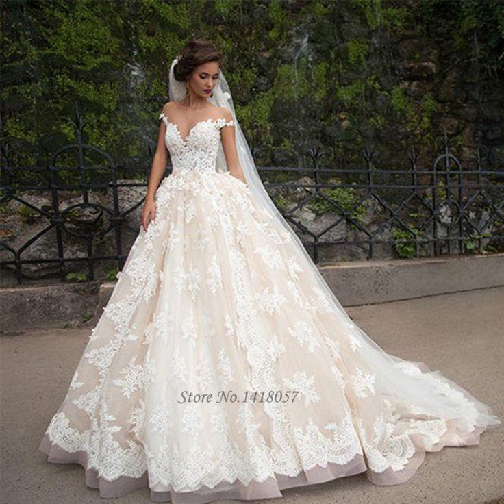Vintage Turkey Wedding Dresses Lace 2016 Wedding Gowns Sexy Bridal Dresses Lebanon Cap Sleeve Court Train Vestido de Noiva Renda