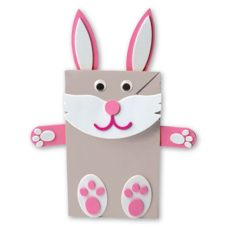 paper bag crafts make your own pink bunny paper bag puppet with this 2606
