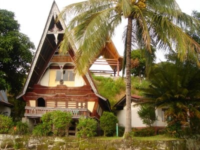 Batak House at Lake Toba in Indonesia