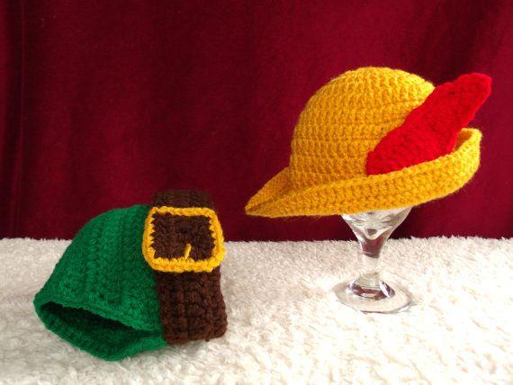 crochet photo prop 'Disney's Robin Hood' hat by momscrochetcorner, $20.00