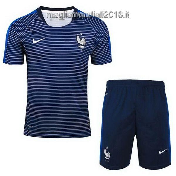 Maglia Allenamento Completino Francia Mondiali 2018 Blu Blanco ...