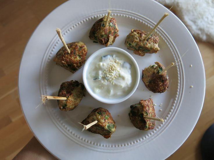Grønne Kjøttboller med Tzatziki
