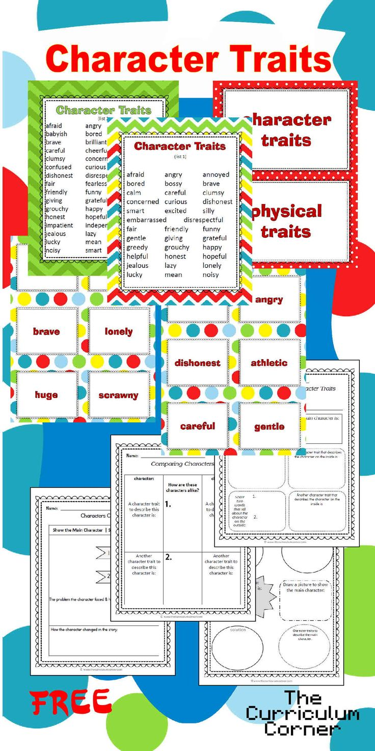 201 best images about Character Study Activities on Pinterest ...
