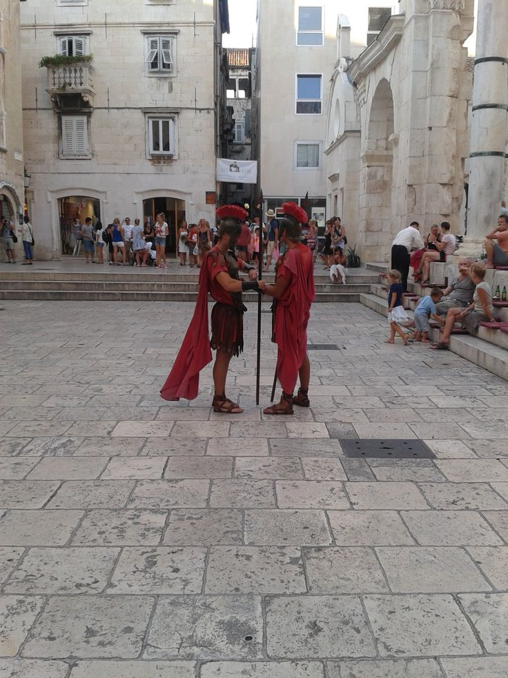 Roman Soldiers Split #travel #croatia http://www.flyeattravel.com/top-reasons-visit-croatia-summer/