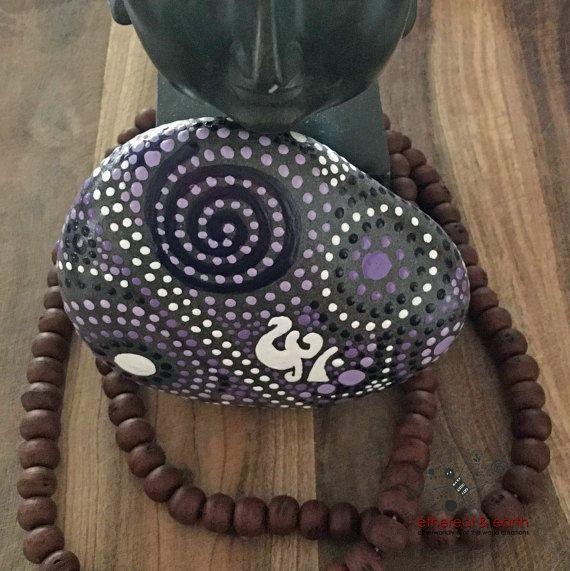 Luxury  lila Zwielicht Kollektion x X Unzen Natural Home Decor Manadala inspirierte Design Om Symbol Garten Sie Art witterungsbest ndig