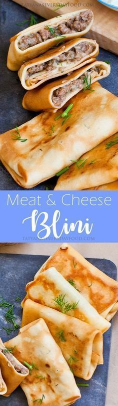 Meat Blini With Cheese & Dill (video)
