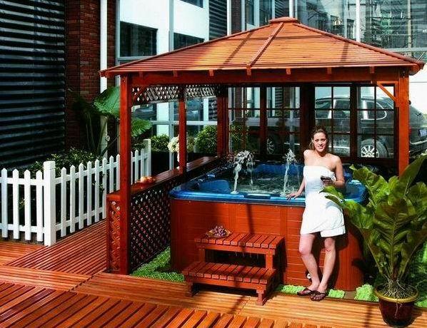 Enjoyment Of Gazebo Hot Tub Gazebos Canopy Bower Shelter