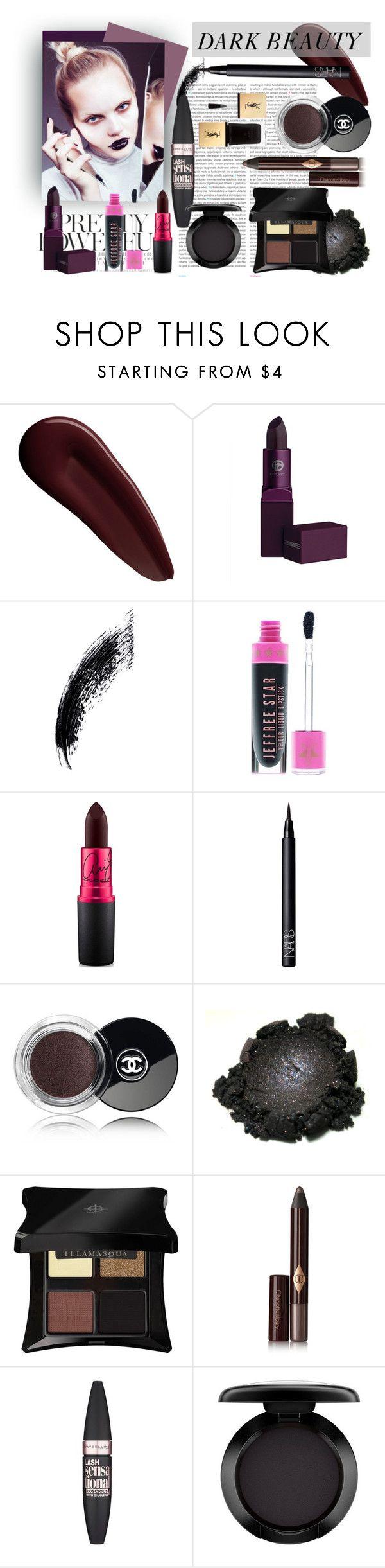 """Dark Beauty"" by eirini-kastrou on Polyvore featuring beauty, Surratt, Lipstick Queen, Oris, MAC Cosmetics, NARS Cosmetics, Chanel, Illamasqua, Charlotte Tilbury and Maybelline"