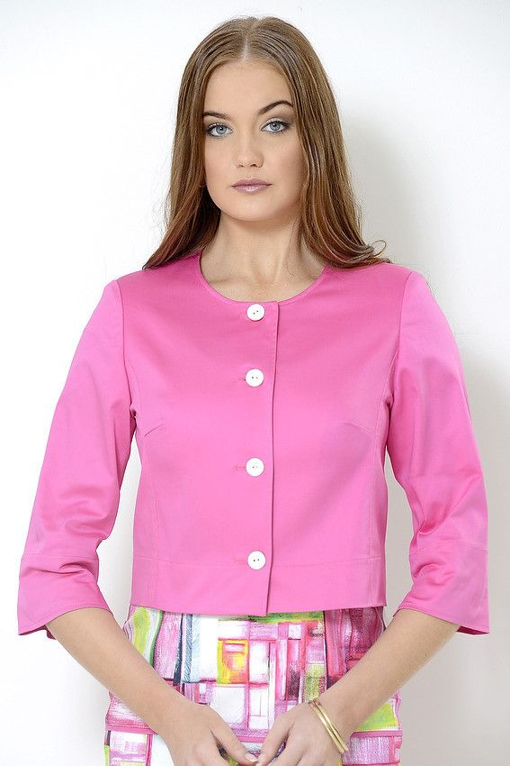 Unlined cotton elastin 'Rosie' Boxy Jacket suitable for destination weddings, mother of the bride, summer racing fashion, cruising fashion, corporate events, Melbourne Cup, smart casual functions, women who do lunch, Pia du Pradal Park Road and Brisbane Arcade, Brisbane City, online boutique