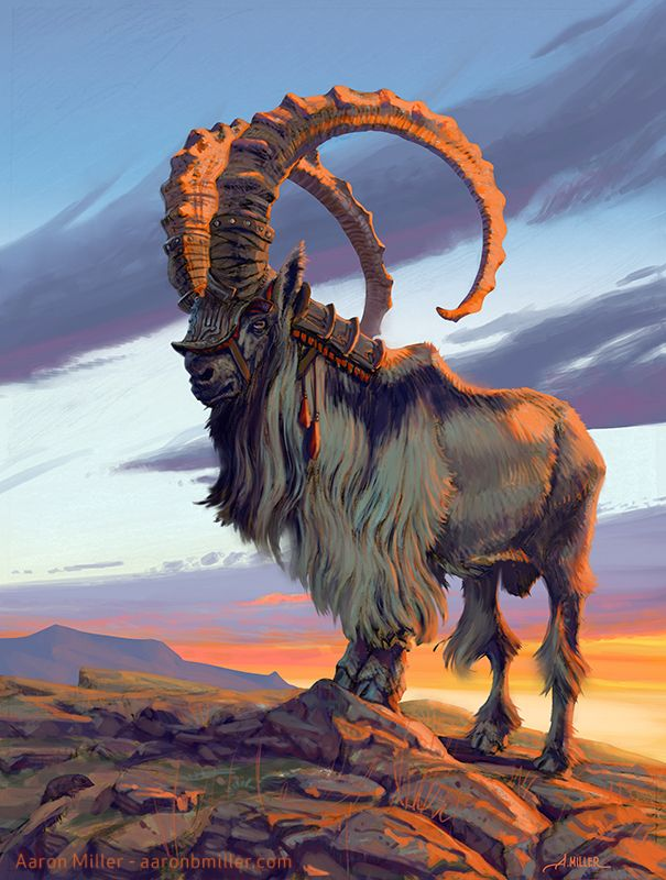 Armored Goat by AaronMiller.deviantart.com on @DeviantArt