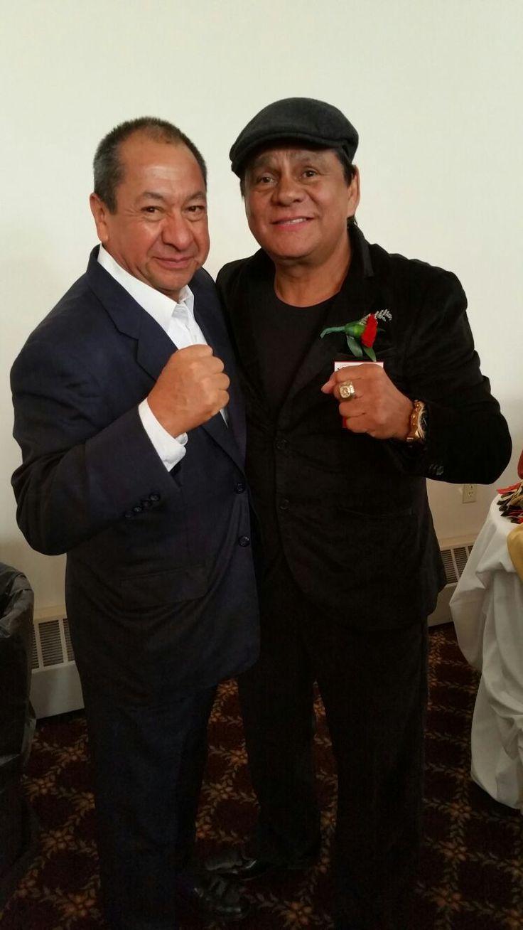 Alberto Reyes y Roberto Durán, Hall of Fame 2016. #RobertoDuran #boxing #box #CletoReyes #HallOfFame