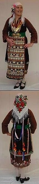 Traditional Greek festive costume from Assimenion (Greek Thrace). Mid-20th century.