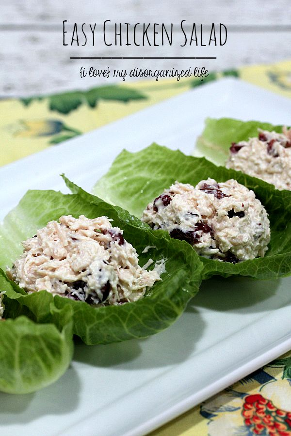 This easy chicken salad recipe is perfect for picnic sandwiches, eating with crackers by the pool, or as an appetizer for entertaining your summer guests!