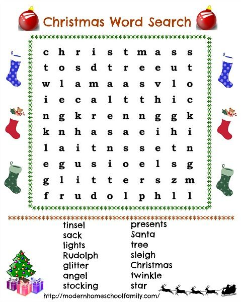 Fun With Christmas Word Search