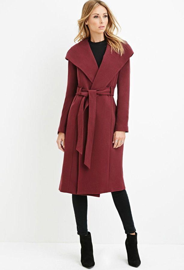 Burgundy Wrap Coat 54 90 Affordable Finds Pinterest