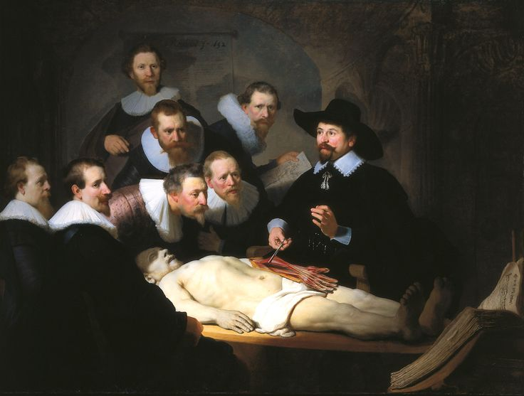The Anatomy Lesson of Dr Nicolaes Tulp - Rembrandt