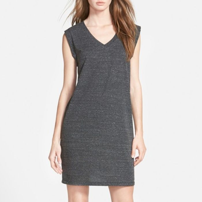 I love the cap sleeves on this casual dress. Although fabulous accessories and shoes could spice it up!