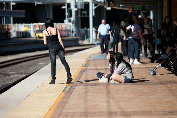 Always stand behind the yellow line, it's there for a reason.
