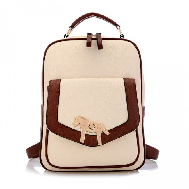 Golden Horse Simple School Backpack for only $39.90 ,cheap Fashion Backpacks - Fashion Bags online shopping,Golden Horse Simple School Backpack can regard as the school bag or travelling backpack.