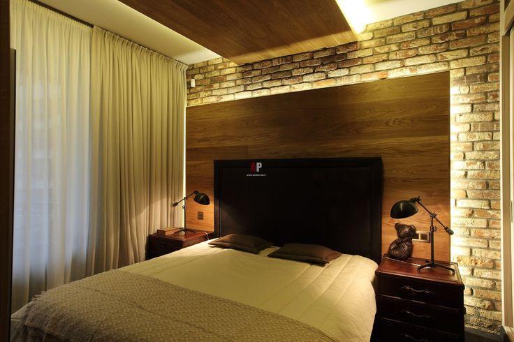 Спальня в стиле лофт. Мебель и изделия из дерева