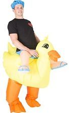 Duck Inflatable Dinosaur T-REX Adult Fancy Dress Costume Adults One Size